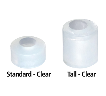FastCap White Euro Door Stops with Screws 10 Pack