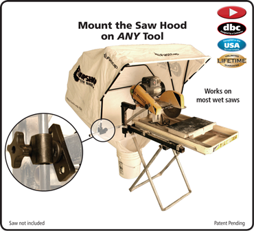 Saw Hood Tile Clamp