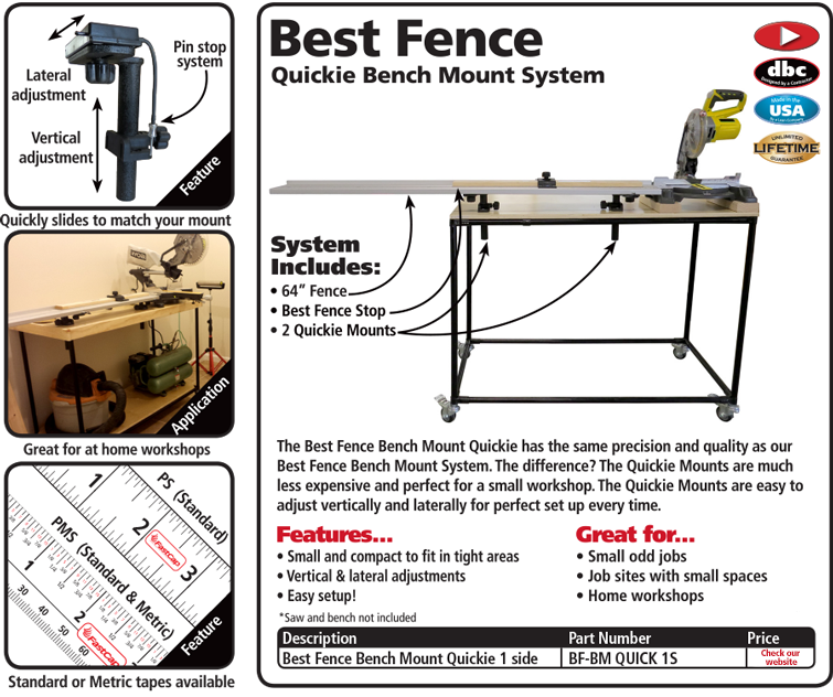 Best Fence Bench Mount Quickie System