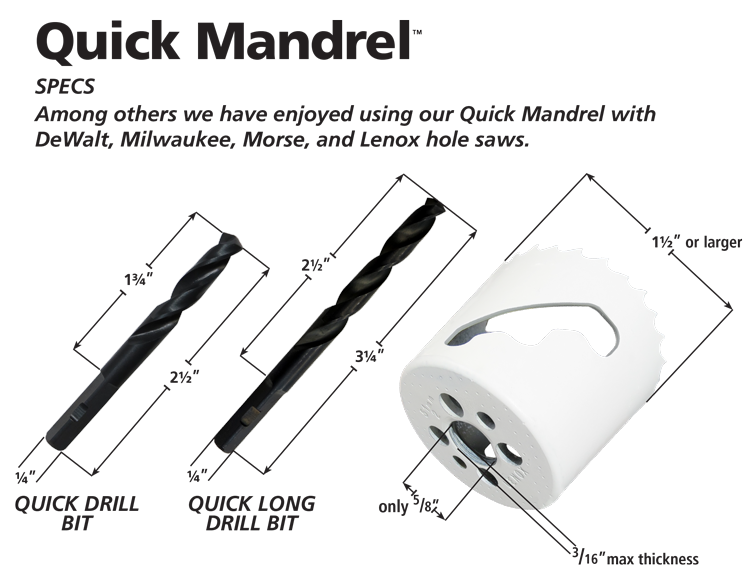 Quick-Mandrel-Specs