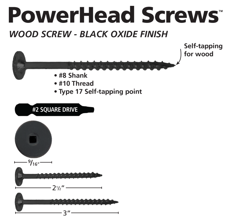 PowerHead-Screws-Black-Oxide-Specs