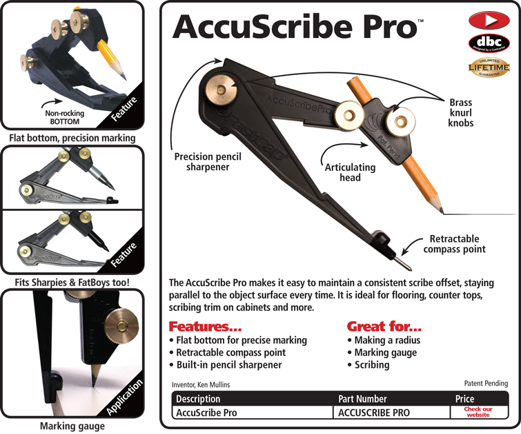 New FastCap Accuscribe Scribing Tool