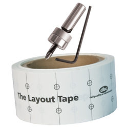Layout Tape, Layout Drill Bit & Layout Tape System